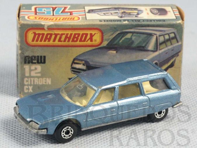 Brinquedo antigo Citroen CX Superfast azul metálico