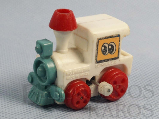 Brinquedo antigo Locomotiva com 4,00 cm de comprimento Coleção Patotinha  Ano 1982