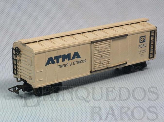 Brinquedo antigo Vagão Furgão Atma Trens Elétricos Década de 1960
