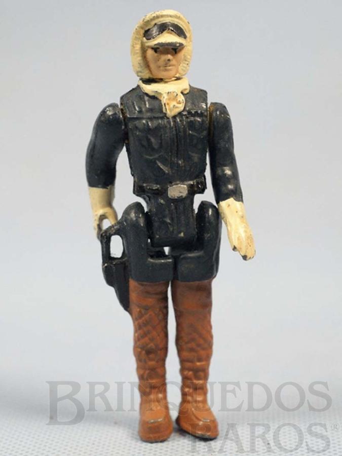 Brinquedo antigo Han Solo em traje Hoth com 10,00 cm de altura Série Aventura na Galáxia Guerra nas Estrelas Star Wars Ano 1983