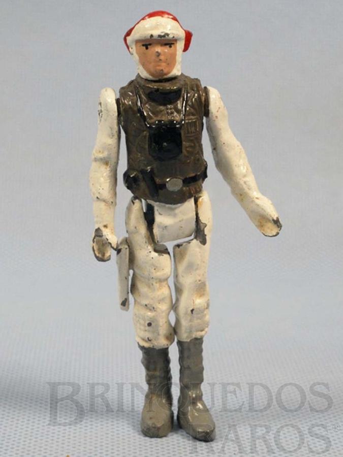 Brinquedo antigo Luke Skywalker em traje Hoth com 10,00 cm de altura Série Novas Aventuras nas Galáxias Guerra nas Estrelas Star Wars Ano 1983