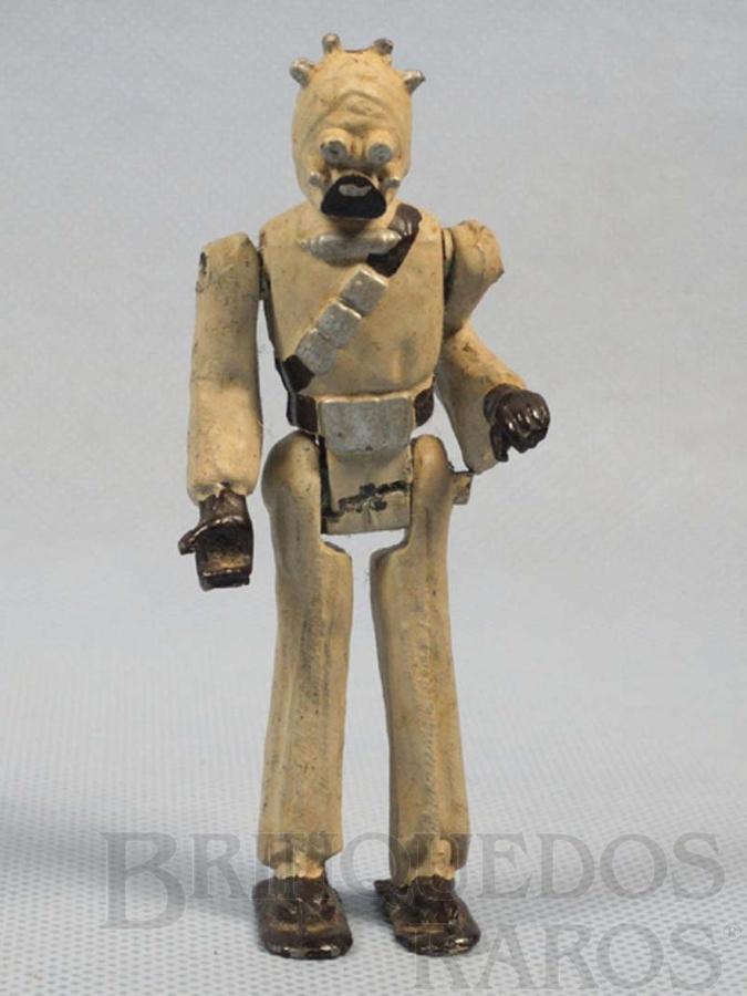 Brinquedo antigo Tusken Raider com 10,00 cm de altura Série Novas Aventuras nas Galáxias Guerra nas Estrelas Star Wars Ano 1983