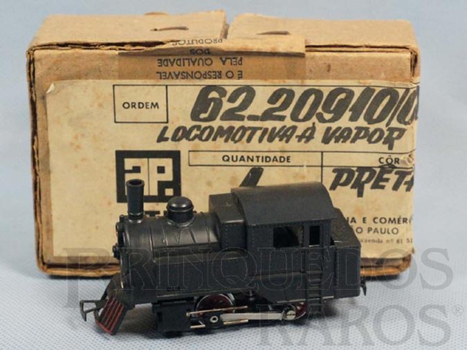 Brinquedo antigo Locomotiva a vapor 040 completa com Caixa e Sobre-Caixa Original Década de 1970