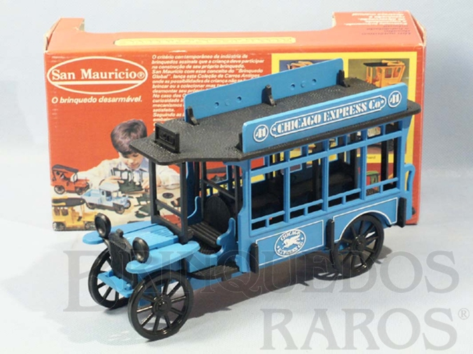 Brinquedo antigo Ônibus Jardineira com 25,00 cm de comprimento Desmontável Década de 1980