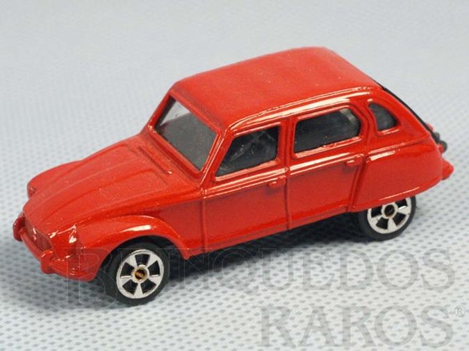 Brinquedo antigo Citroen Dyane vermelho Brazilian Corgi Jr Kiko Década de 1980