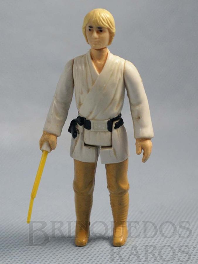Brinquedo antigo Luke Skywalker Star Wars Completo com Sabre de Luz Década de 1980