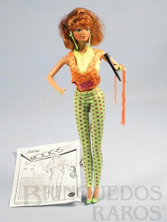 Brinquedo antigo Barbie Ruiva Rockers Serie Década de 1980