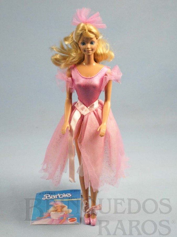 Brinquedo antigo My First Barbie Década de 1980