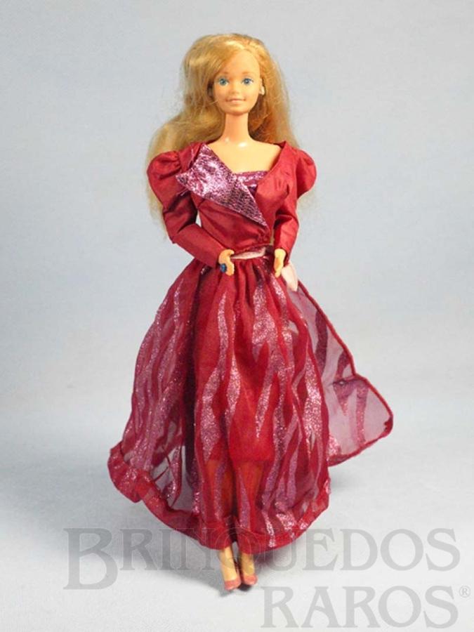 Brinquedo antigo Boneca Barbie Fashion Serie Oscar de La Renta vestido vermelho Década de 1980