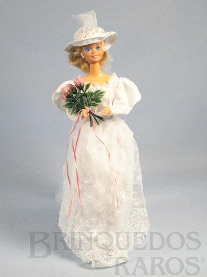 Brinquedo antigo Boneca Barbie Noiva Romantic Wedding Fashion Serie Década de 1980
