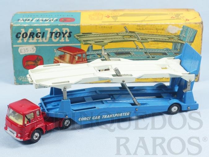 Brinquedo antigo Caminhão Cegonha Bedford Carrimore Car Transporter Década de 1960