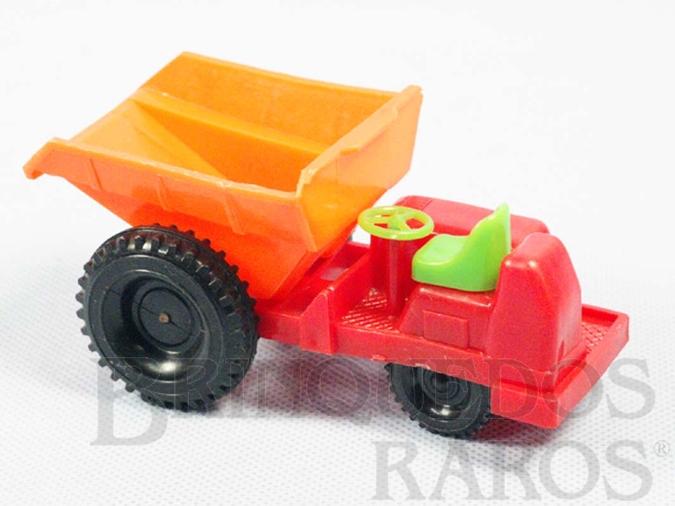 Brinquedo antigo Trator Caçamba com 12,00 cm de comprimento Década de 1980