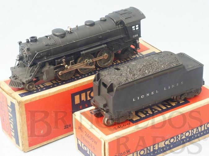 Brinquedo antigo Locomotiva a Vapor 224 com apito Ano 1946