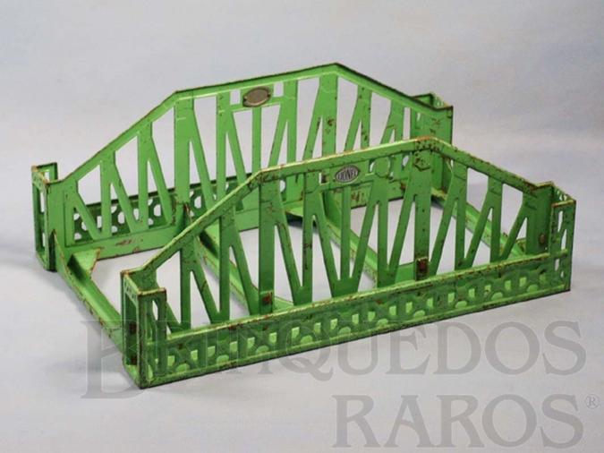 Brinquedo antigo Ponte 280 Single Span Standart Gauge Bridge 35,00 cm de comprimento Década de 1930