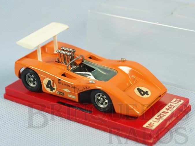 Brinquedo antigo McLaren M8B CanAn laranja Fabricada pela Brosol Solido brésilienne Datada 3-1970