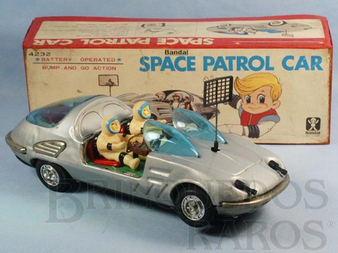 Brinquedo antigo Carro espacial Space Jaguar Space Patrol Car Década de 1970