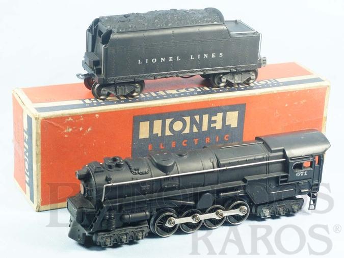 Brinquedo antigo Locomotiva a Vapor 671 Pennsylvania Steam Turbine com apito e fumaça Ano 1946