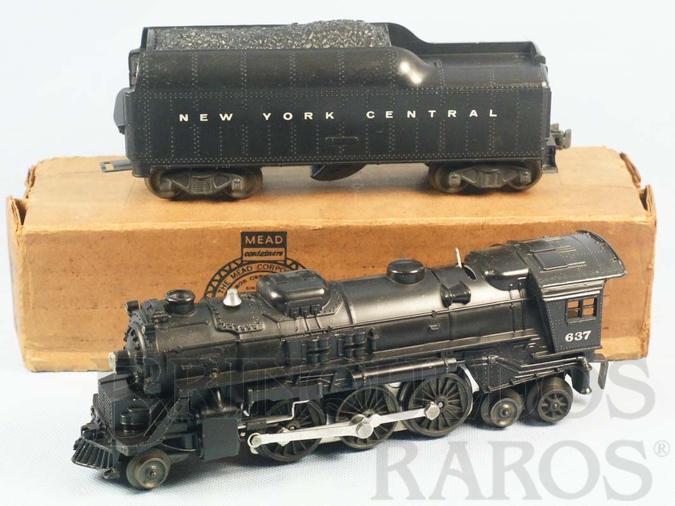 Brinquedo antigo Locomotiva a Vapor 637 com apito e fumaça Ano 1946 a 1963