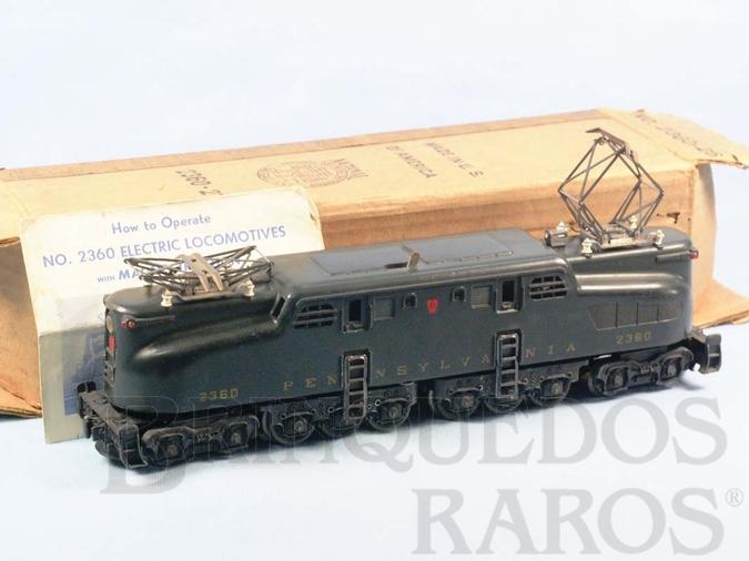 Brinquedo antigo Locomotiva Elétrica 2360 Dark Green Pennsylvania GG1 without the gold stripers Ano 1963