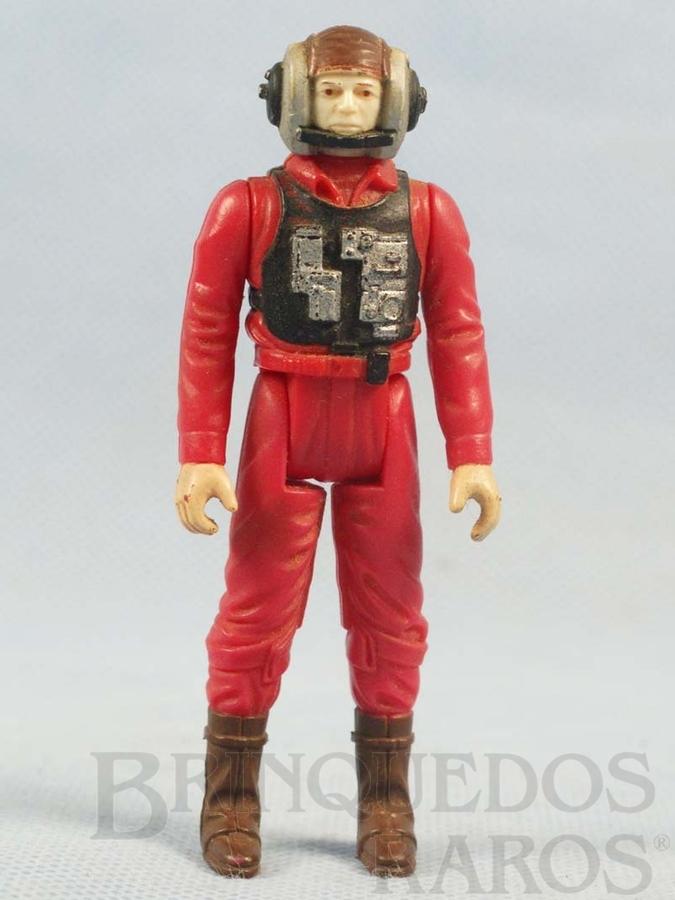 Brinquedo antigo Rebel B-Wing Starfighter Piolt Star Wars Lucas Film Década de 1980