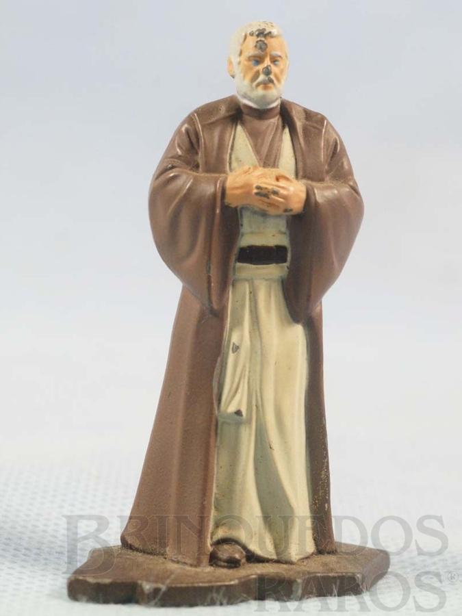 Brinquedo antigo Obi Wan Kenobi com 7,00 cm de altura Star Wars Lucas Film Série Action Masters Ano 1994