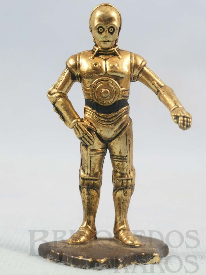 Brinquedo antigo Robot C3PO com 7,00 cm de altura Star Wars Lucas Film Série Action Masters Ano 1994