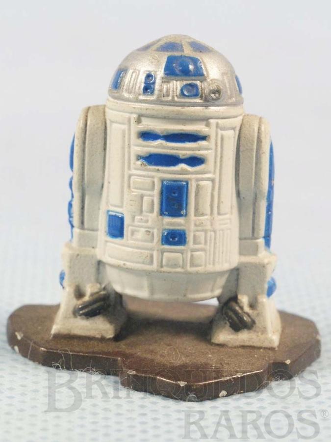 Brinquedo antigo Robot R2D2 com 3,5 cm de altura Star Wars Lucas Film Série Action Masters Ano 1994