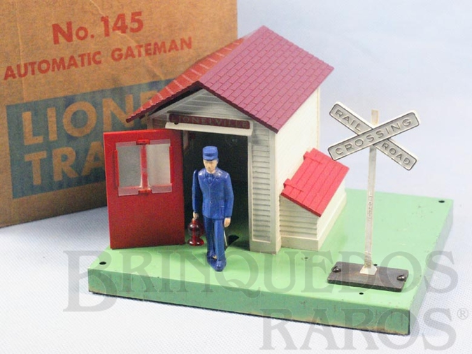 Brinquedo antigo Casa do guarda 145 Automatic Gateman Ano 1950 a 1966