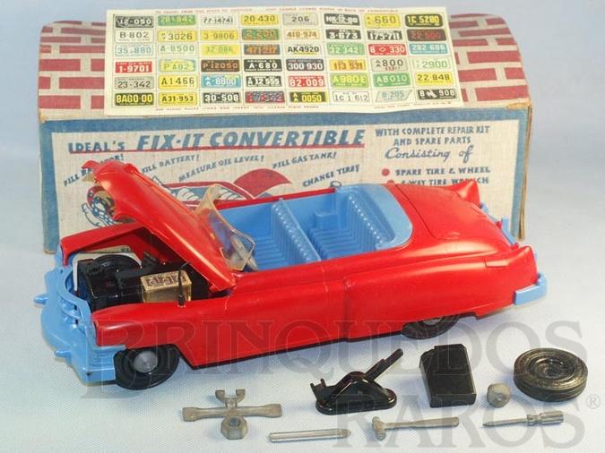 Brinquedo antigo Cadillac 1953 El Dorado com 34,00 cm de comprimento Completo com Step Ferramentas Macaco e 48 placas dos Estados Americanos