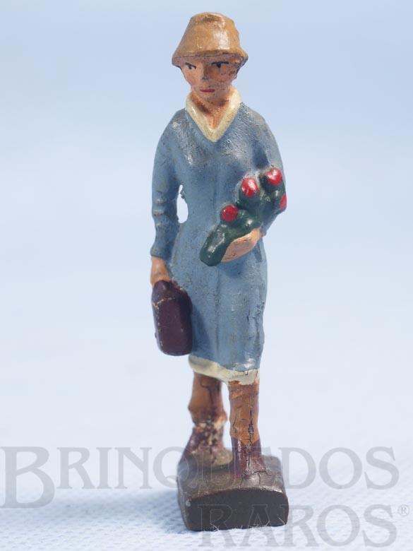 Brinquedo antigo Passageira Bitola 1 Década de 1930