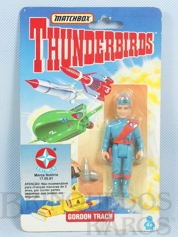 Brinquedo antigo Boneco Thunderbirds Gordon Tracy Cartela Lacrada importado pela Estrela na década de 1990