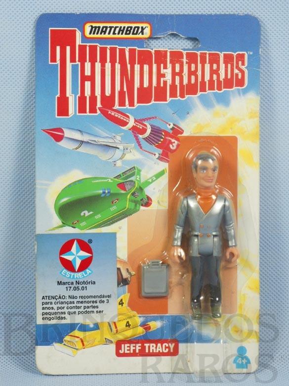 Brinquedo antigo Boneco Thunderbirds Jeff Tracy Cartela Lacrada importado pela Estrela na década de 1990