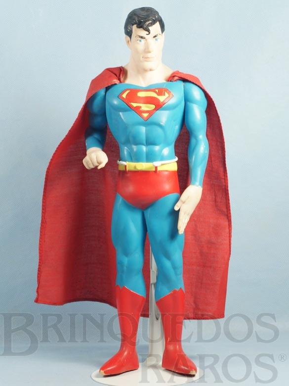 Brinquedo antigo Boneco do Super Homem com 39,00 cm de altura Capa de tecido Datado 1988
