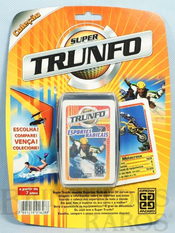 Brinquedo antigo Jogo Super Trunfo Esportes Radicais Blister Lacrado Década de 1990