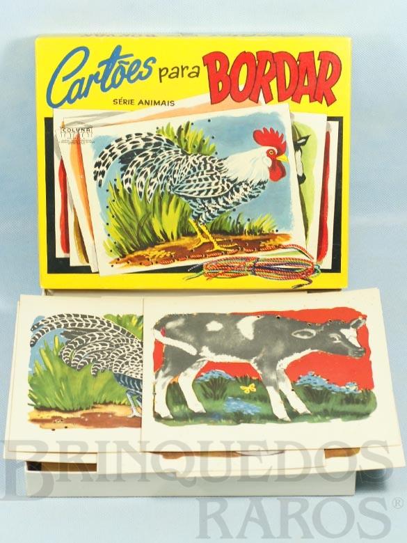 Brinquedo antigo Conjunto Cartões Para Bordar Década de 1960