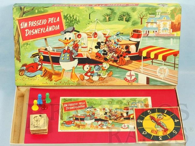 Brinquedo antigo Jogo Um Passeio pela Disneylândia Walt Disney Década de 1960 RESERVED***AB***