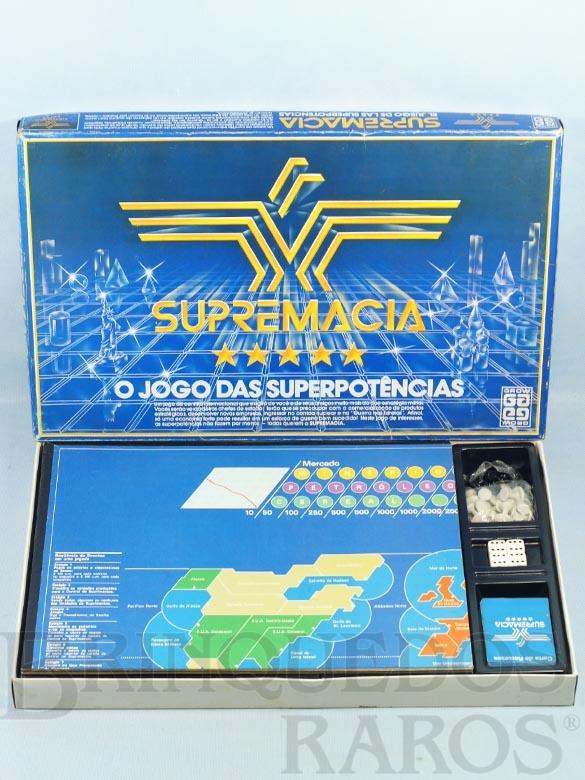 Brinquedo antigo Jogo Supremacia Década de 1980