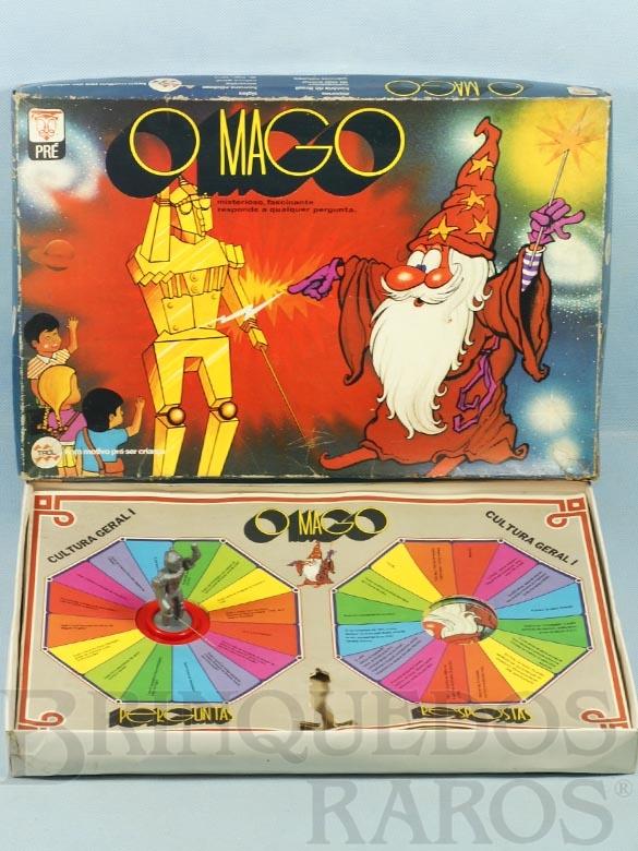 Brinquedo antigo Jogo de perguntas e respostas O Mago Década de 1970
