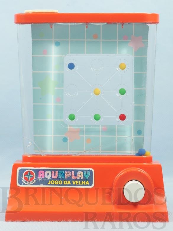 Brinquedo antigo Aquaplay Jogo da Velha Ano 1978