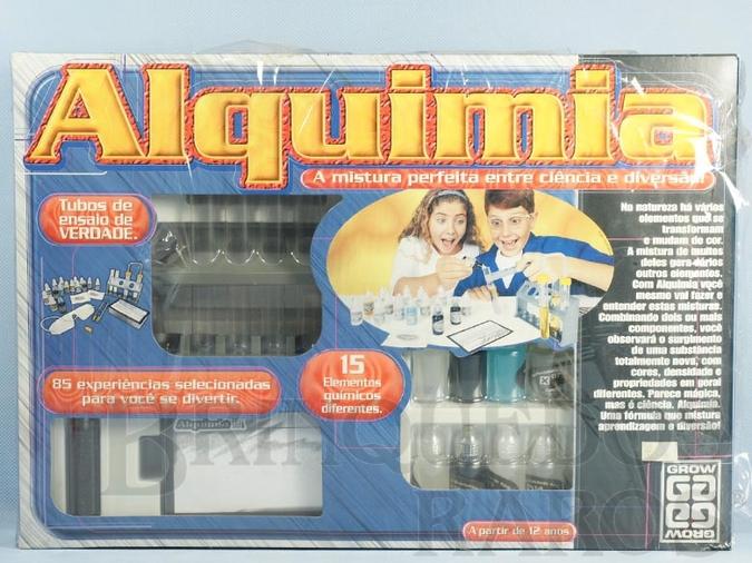 Brinquedo antigo Conjunto de Química Alquimia embalagem lacrada Década de 1990