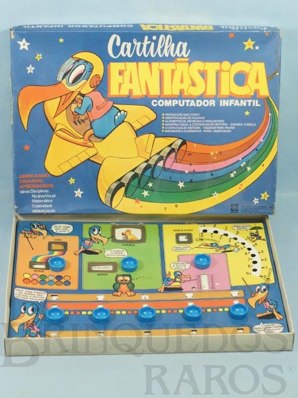 Brinquedo antigo Cartilha Fantástica Computador Infantil Década de 1990