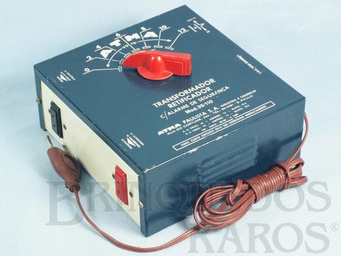 Brinquedo antigo Transformador com Alarme de Segurança 35 110 Volts Saída para trem e acessórios Década de 1970