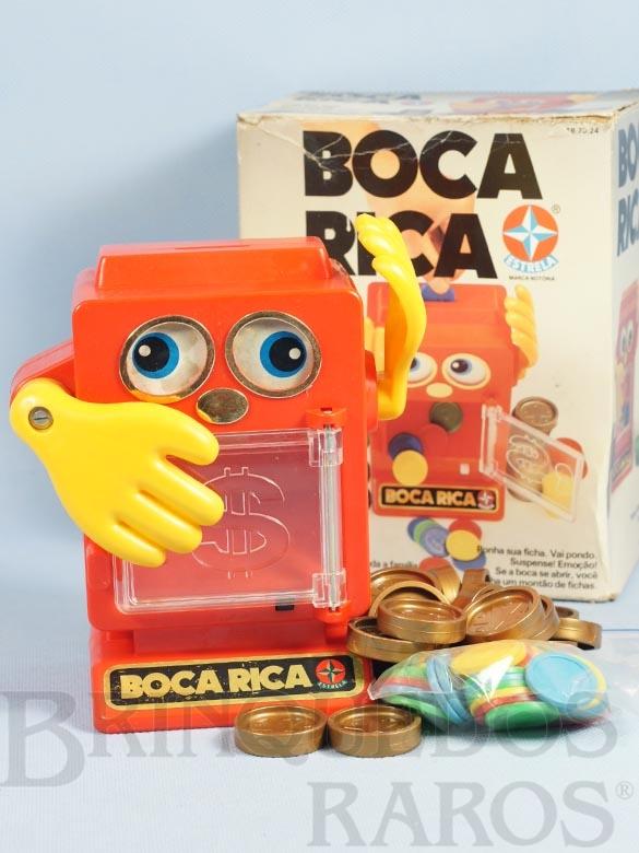 Brinquedo antigo Jogo Boca Rica completo com manual de instruções Ano 1984