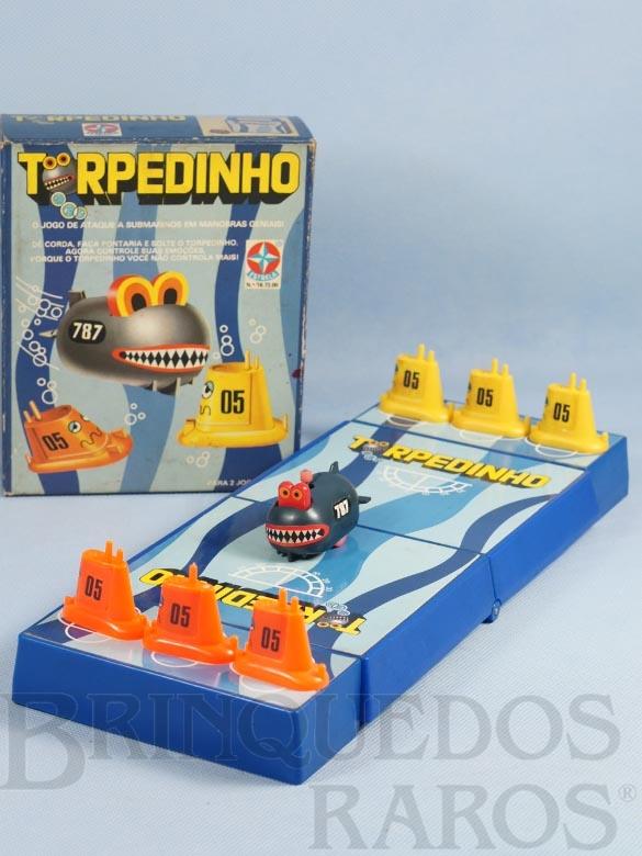 Brinquedo antigo Jogo Torpedinho completo com Manual de Instruções Ano 1982