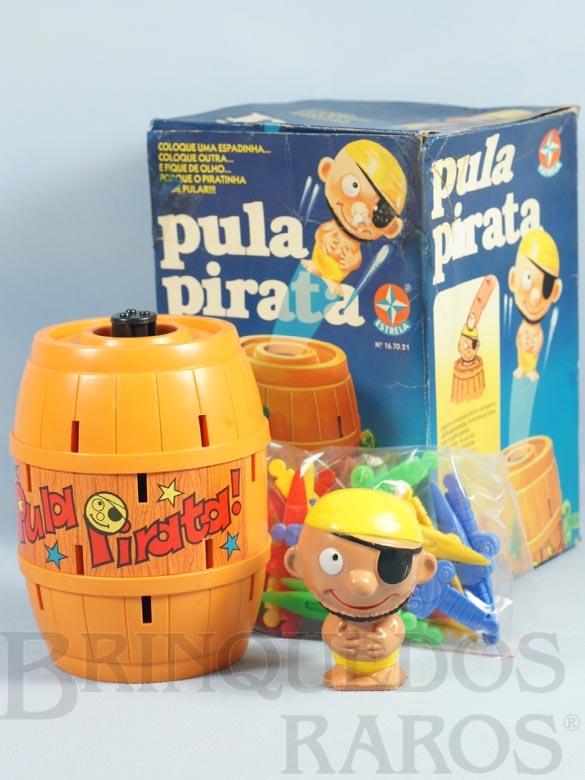 Brinquedo antigo Jogo Pula Pirata completo Ano 1982