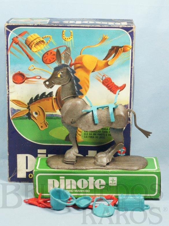 Brinquedo antigo Jogo Pinote o Burrinho Manhoso Ano 1980