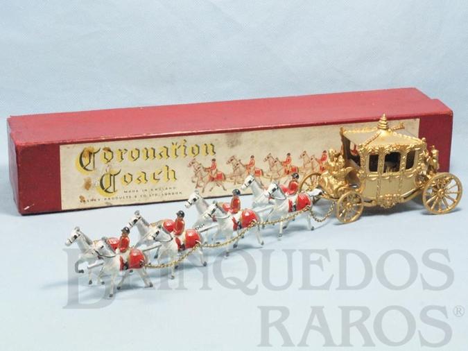 Brinquedo antigo Carruagem da Coroação da Rainha Elizabeth II Large Coronation Coach Ano 1956