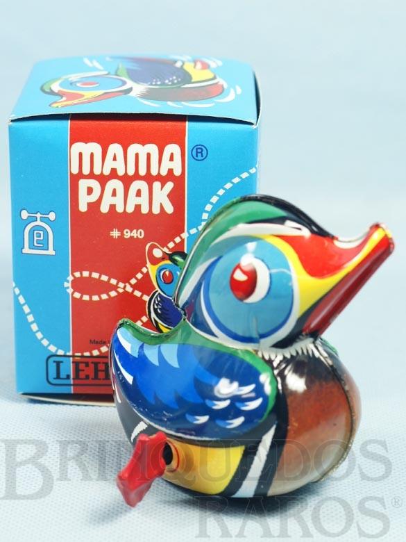 Brinquedo antigo Pato Mama Paak com 10,00 cm de altura Década de 1960