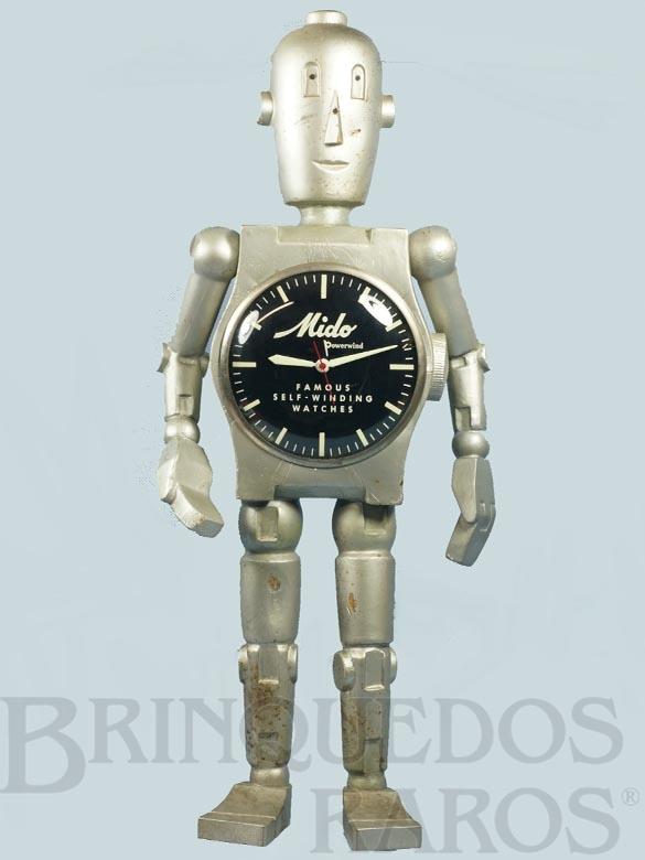Brinquedo antigo Robot Display relógios Mido com 70,00 Cm de altura Década de 1940