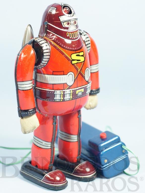 Brinquedo antigo Robot Astronaut S-Man com 15,00 Cm de altura completo Perfeito estado Ano 1960